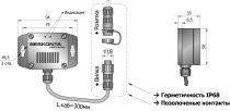 Датчик влажности и температуры SHTA02-79B35-U05-P01-PL настенный